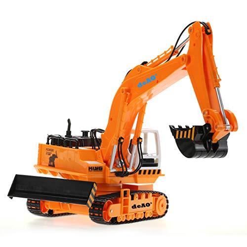 RC Auto kaufen Baufahrzeug Bild 3: deAO 6 Kanal Fernsteuerung Baubagger Bagger Bulldozer Truck mit Licht und Sounds*