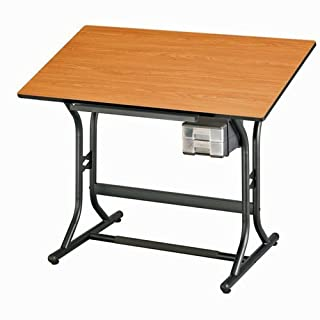 Alvin and Company Adjustable Drawing Table with Supply Drawers and Pencil Ledge - CraftMaster Jr.