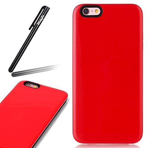 Custodia Cover per iPhone 6 plus iPhone 6S plus Case ,Ukayfe 2 in 1 Ultra Slim Casa per iPhone 6 plus iPhone 6S plus,Protettiva Custodia stampato Design PC+ Silicone ibrido impatto grande Difensore cu Rosso 4#