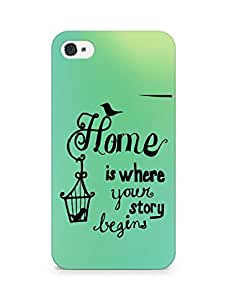 AMEZ home is where your story begins Back Cover For Apple iPhone 4