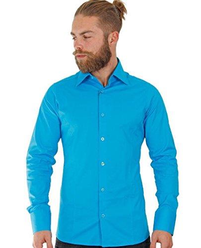 Redbridge by Cipo & Baxx Herren Hemd Shirt 7556 Größe M - XL, türkis (Lycra-hemd)