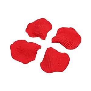 SODIAL(R) 2000 pz petali di rosa in seta rossa per feste matrimonio