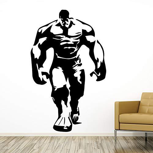 Starker mann wandaufkleber moderne mode wandaufkleber dekoration zubehör für wohnzimmer bett zimmer aufkleber wandbilder 58 cm x 93 cm