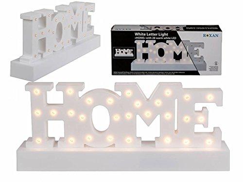 OOTB - Lámpara de letras para casa, color blanco