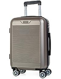 ITACA - T72050 Valise cabine trolley 50 cm en ABS. Bagage à main. Rigide et légère. Poignée télescopique, 2 anses, 4 roues doubles. Vols low cost Ryanair Vueling, Color Rouge