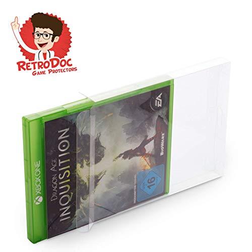10 Klarsicht Schutzhüllen für X-BOX ONE Games Spiele Originalverpackungen Passgenau Glasklar Protector Box Schuber
