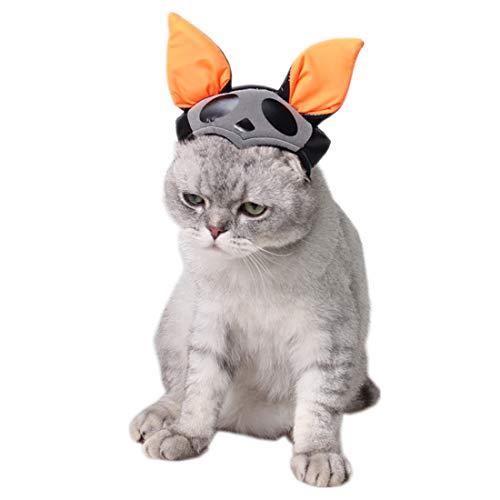 AUSWIEI Halloween Kostüme Hund Party Hut Hexe Cosplay Haustier Hut Dekorative (Color : Black, Size : M) (Medium Hund Halloween-kostüme)