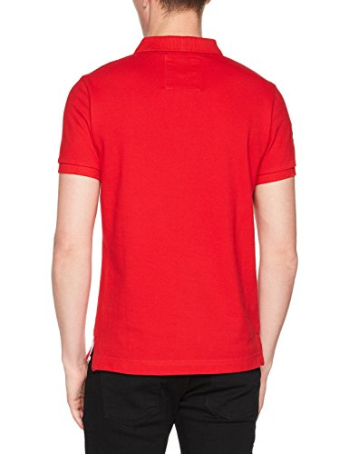 Superdry Herren Poloshirt Classic S/S Pique Polo Rosso (Ace Red)