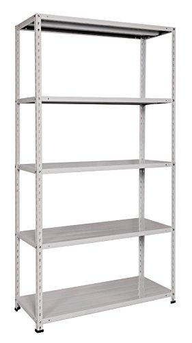 Bizz Otto étagères 051708 Kit étagère métal gris 178 x 100 x 40, 5 niveaux,