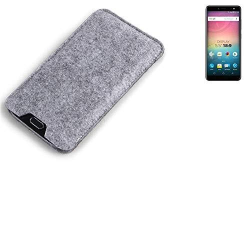 K-S-Trade Filz Schutz Hülle für Allview V3 Viper Schutzhülle Filztasche Filz Tasche Case Sleeve Handyhülle Filzhülle grau