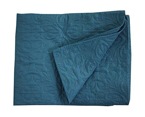 Linder 5053/47/835 Plaid Polyester Bleu Canard 150 x 150 cm