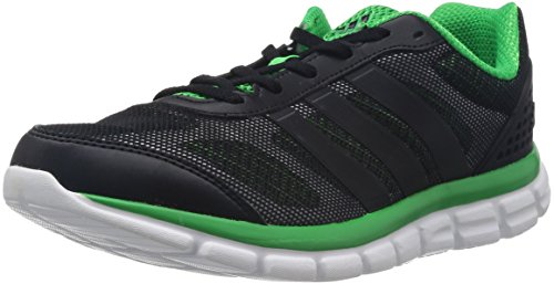 adidas Performance Breeze 202 2 Herren Laufschuhe Schwarz (Black 1 / Black 1 / Vivid Green S14)