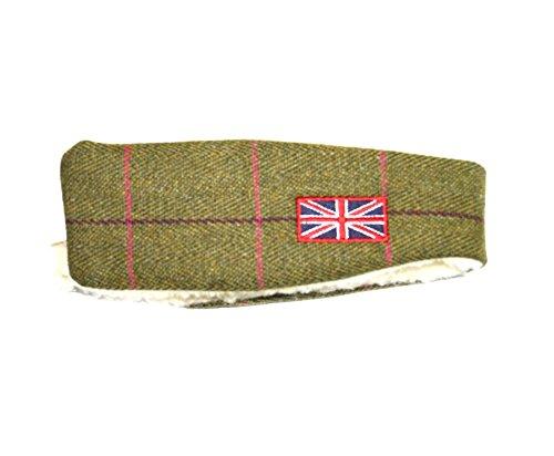 Damen Mädchen Stirnband Tweed Kunstpelz Country Head Band Wrap Wärmer Winter Ohrenschützer Gr. Einheitsgröße, Mehrfarbig - Flag (Tweed-wrap)