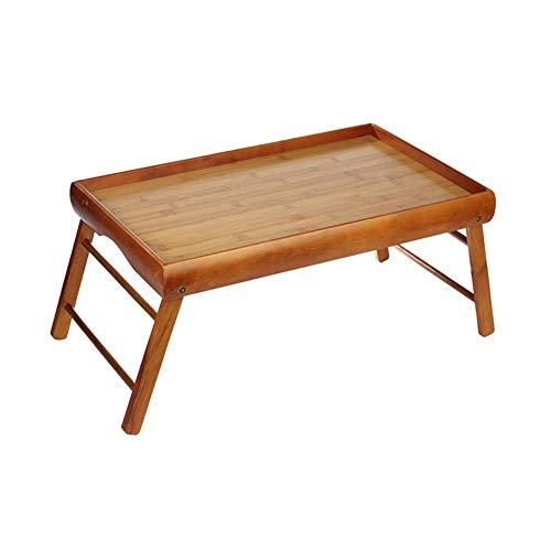 Laptop Schreibtisch Holz japanischen Stil Teetisch faltbare Lap Tisch Bett Tablett tragbare Frühstück Tablett Schreibtisch leicht zu reinigen 20,9 '' × 13 '' (braun)