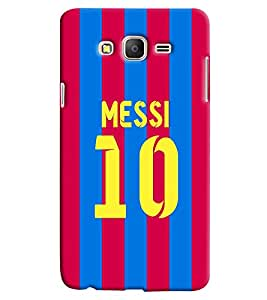 Clarks Messi 10 Hard Plastic Printed Back Cover/Case For Samsung Galaxy On 7