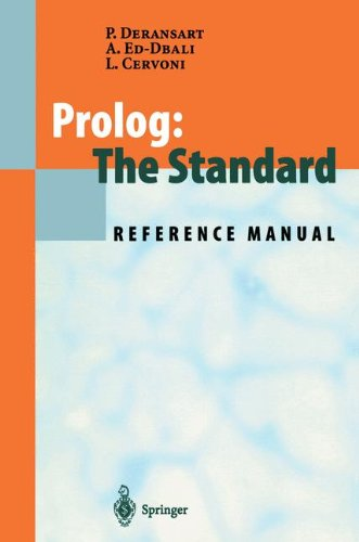 Prolog: The Standard: Reference Manual
