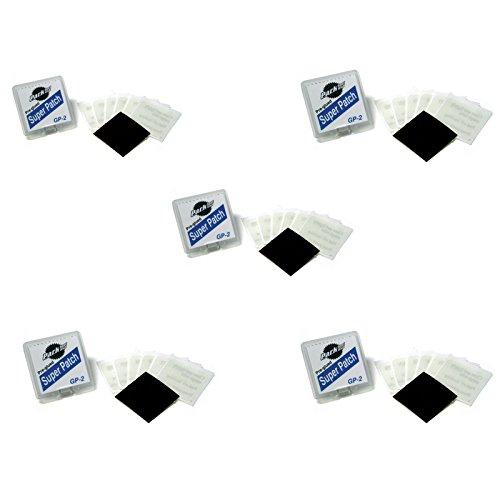 Park Tool GP-2 Pre-Glued Super Patch Puncture Repair Kits (Pack of 5 Kits) (Park Tool-kit)