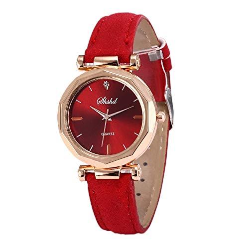 a7923a506251 OPAKY Relojes Caliente Venta Moda Mujer Cuero Reloj Casual Lujo Analógico  Cuarzo Cristal Reloj de Pulsera Mujeres Retro Diseño Banda de Cuero Analog  ...