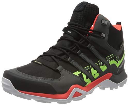 Adidas Terrex Swift R2 Mid GTX, Zapatillas para Carreras de montaña para Hombre, Core Black/Solar Red/Signal...