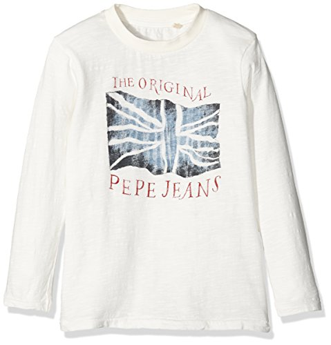 pepe-jeans-jungen-jay-jr-t-shirt-weiss-off-white-14-jahre-herstellergrosse-14