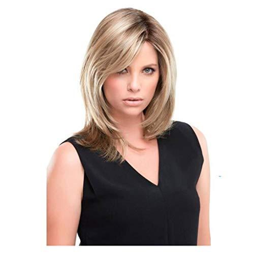 Goquik Perücken Europäische und amerikanische Art und Weise Hochtemperatur Perücke kurz schwarz und grau verlaufend Haarverlängerungen ()