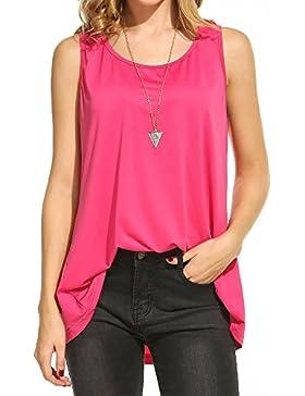 Zeagoo Mujer Blusa Camisetas Suelta Sin Mangas Casual Atractivo