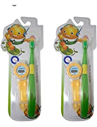 Baal Combo Of Children Boys Digital Watch With Tooth Brush For Kids, Multicolor, 35 Grams, Pack Of 1