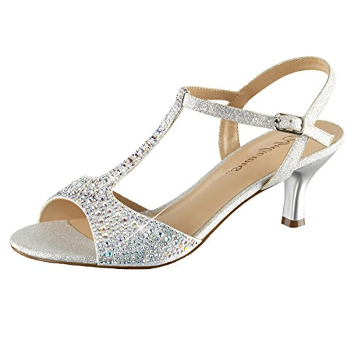 Heels-Perfect , Sandales pour femme Silber (Silber)