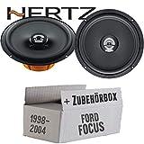 Hertz DCX 165.3-16cm Koax Lautsprecher - Einbauset für Ford Focus 1 Front Heck - JUST SOUND best choice for caraudio
