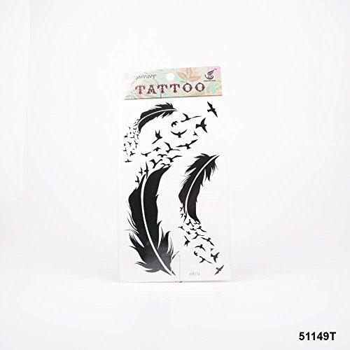 Tattoos schwarze Federn und Vogelschwarm