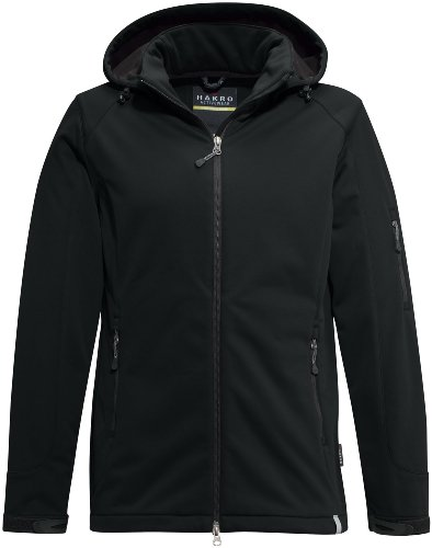 HAKRO Softshell-Jacke Ontario - 848 - schwarz - Größe: XXL