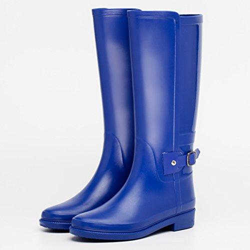 autunno e in inverno stivali impermeabili signora pioggia Blue