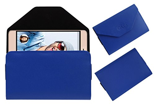 Acm Premium Flip Flap Pouch Case for Micromax Vdeo3 Mobile Leather Cover Blue  available at amazon for Rs.179