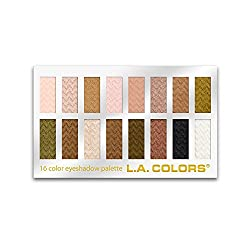 L.A. Colors 16 Color Eyeshadow Palette, Sweet, 1.02 Ounce