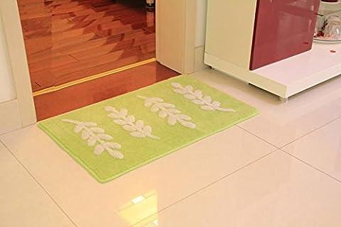 New day®-Cartoon kitchen door mats bathroom floor mats carpet cute Ottomans carpet , green blinds , can be customized size