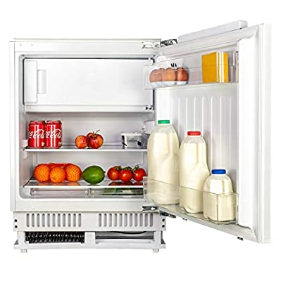 SIA RFU102 60cm 118L White Integrated Under Counter Fridge And Ice Box A+ Rating
