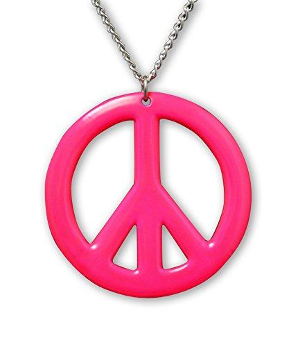 Rosa símbolo de la Paz esmalte acabado en peltre Hippie colgante collar …