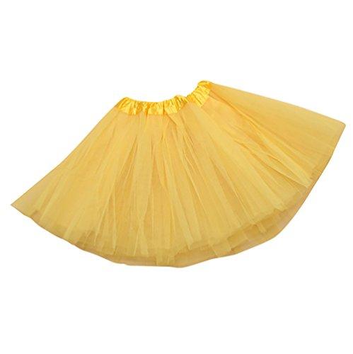 NiSeng Fasching Verkleiden Kinder Mädchen Tüllrock Tütü Tutu Petticoat Ballettkleid Tanzkleid in verschiedenen Farben (Mädchen Kilt Kostüm)