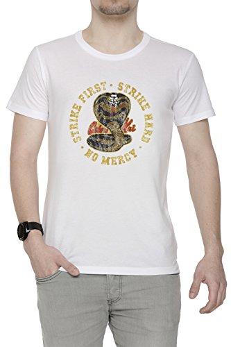 411uSvkHBqL - Camiseta blanca con logo y eslogan Cobra Kai