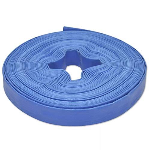 VidaXL Manguera Plana Agua 25 m 25 mm Poliester PVC