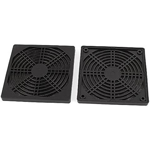 2 Piezas A prueba de polvo Filtro De Polvo Protector Rejilla Funda para 120mm PC Ventilador Para
