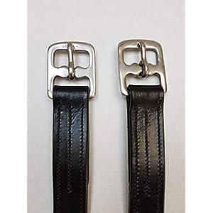 nilo Steigbügelriemen, schwarz, mit Nylon verstärkt (160cm)