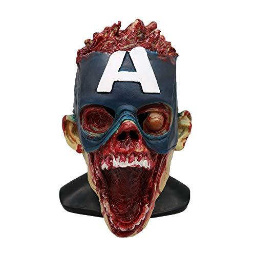 Living Dead Zombie Kostüm - QWEASZER Halloween Scary Terror Captain America