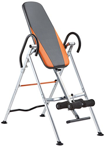 GORILLA SPORTS Inversionsbank klappbar Schwarz/Orange/Grau – Rückentrainer bis 200 kg belastbar