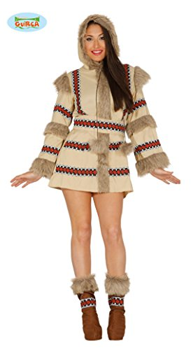 sexy Eskimokostüm mit Fell Damenkostüm Alaska Island Eskimo Gr. M-XL, ()
