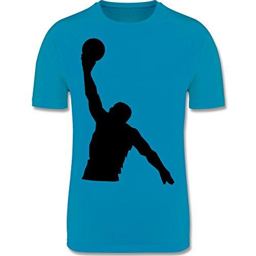 Shirtracer Sport Kind - Basketball - 164 (14-15 Jahre) - Himmelblau - F350K - Atmungsaktives Laufshirt/Funktionsshirt für Mädchen und Jungen (Sport-shirt Basketball-trikot)