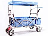 Starkwerk Bollerwagen faltbar Handwagen Transportkarre Strandwagen SW 750 Blau