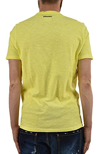 Dsquared2 Men's T-SHIRT Indigenous Orange/Yellow - size S/M Yellow