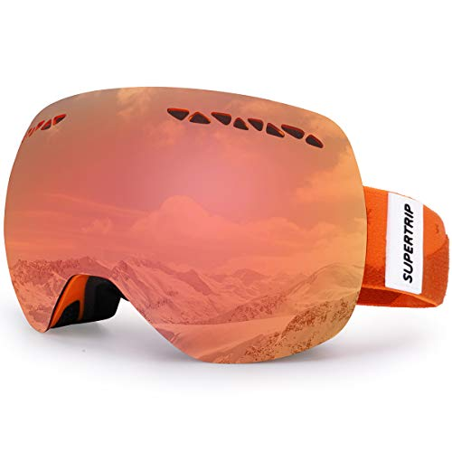 77d0ff8376 Supertrip Ski Goggles Men & Women Skiing Snowboard Goggles Over Glasses  Interchangeable Lens UV400 Protection Anti
