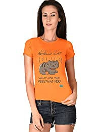 Smelly Cat Orange Girls Tshirt